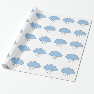 "Cloud  ""as right as rain"" wrapping paper"