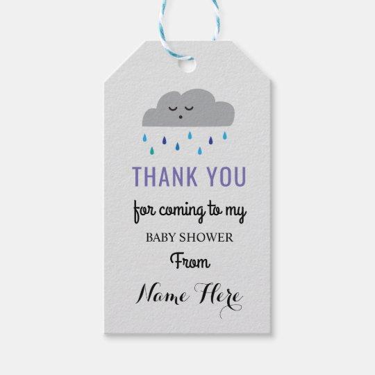 Cloud Baby Shower Rain Sleeping Boy Sprinkle Gift