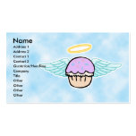 cloud background, cupcake angel no text, Name, ... Business Card Templates