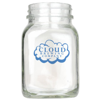 Cloud Brewing Company Logo Mason Jar