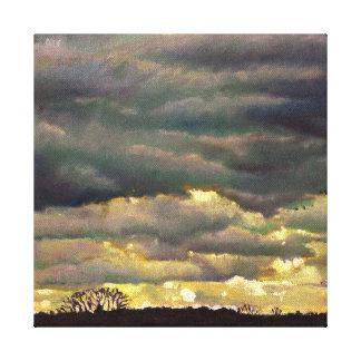 Cloud burst 2012 canvas print