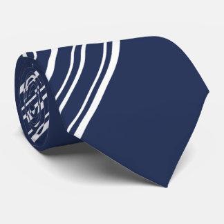 Cloud Burst Blue and White Diagonal Stripes Tie