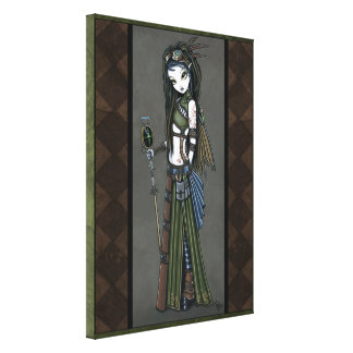 """Cloud Burst"" Steampunk Aviatrix Fairy Canvs Print"