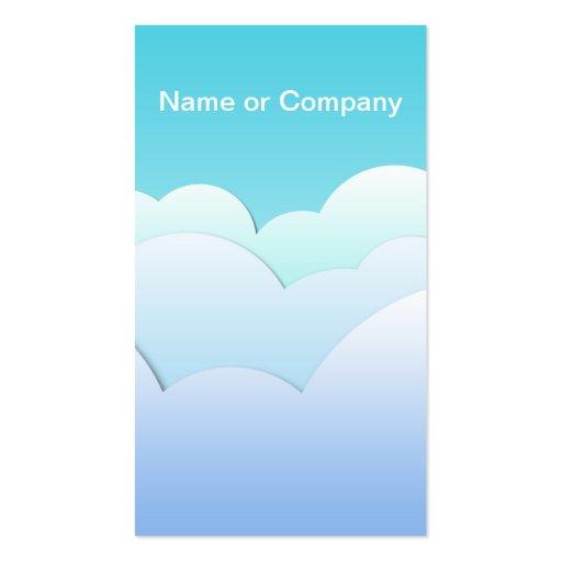 Cloud Business Card Templates
