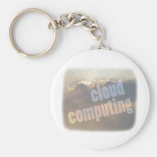 cloud computing basic round button key ring