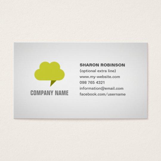 cloud computing business card with editable logo