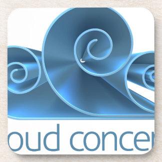 Cloud Concept Icon Beverage Coasters