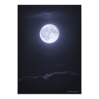 Cloud Covering Full Moon 13 Cm X 18 Cm Invitation Card