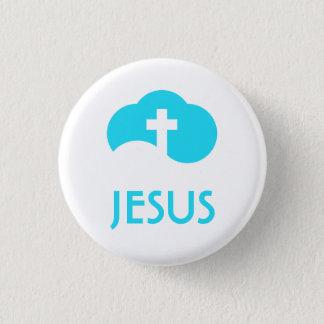 Cloud Cross 3 Cm Round Badge