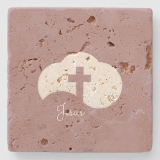 Cloud Cross Stone Coaster