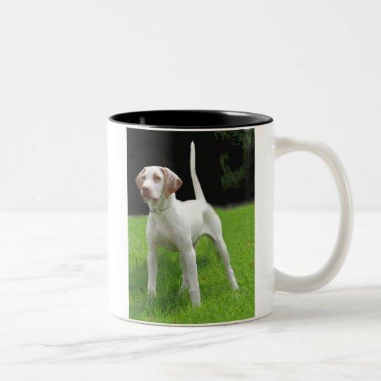 Cloud English Pointer Two-Tone Coffee Mug