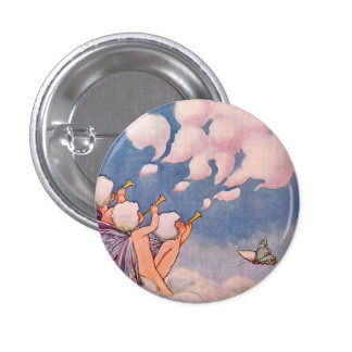 Cloud Faeries Making Clouds 3 Cm Round Badge
