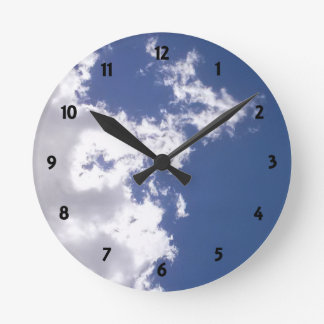 Cloud Fire Round Clock