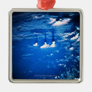 Cloud formation over the earth 2 christmas ornament