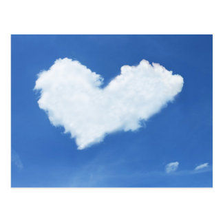Cloud heart in the sky postcard