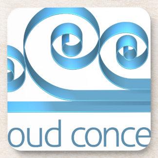 Cloud Icon Concept Drink Coasters