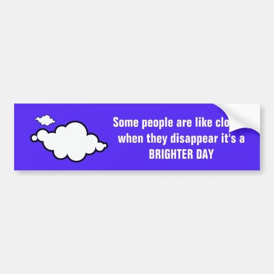 Cloud Joke Bumper Sticker