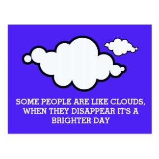 Cloud Joke Postcard