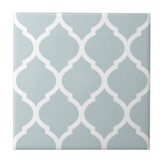 Cloud Moroccan Quatrefoil Patterned Ceramic Tile