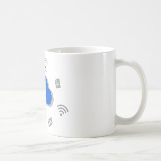 Cloud of ascent to Internet with icons Coffee Mug