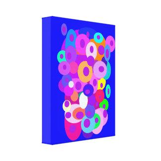 Cloud of Circles Blue Canvas Print