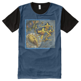 Cloud of Fairies Panel T-Shirt All-Over Print T-Shirt