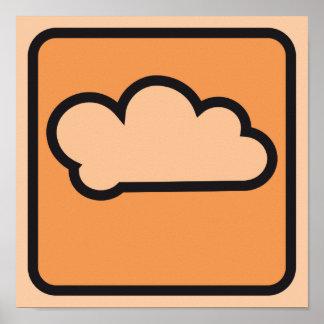 cloud orange 01 poster