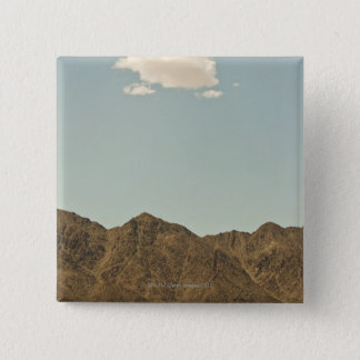 Cloud over Nevada desert and mountains 15 Cm Square Badge