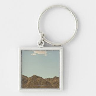 Cloud over Nevada desert and mountains Key Ring
