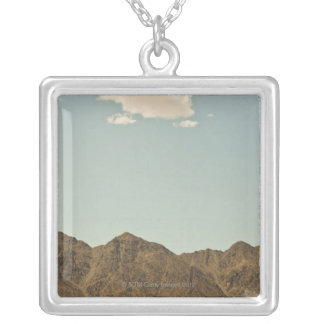 Cloud over Nevada desert and mountains Silver Plated Necklace