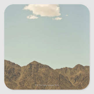 Cloud over Nevada desert and mountains Square Sticker