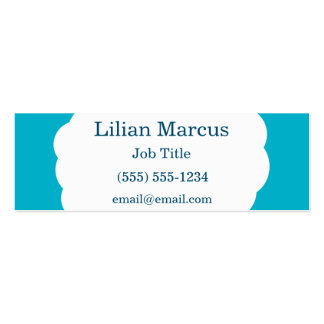 Cloud Pack Of Skinny Business Cards