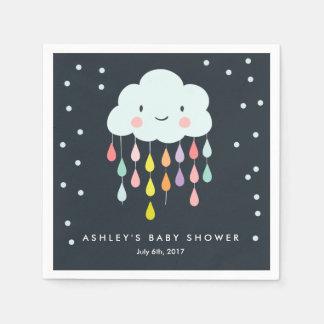 Cloud Paper Napkin Baby sprinkle Raindrops Shower