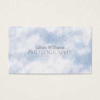 Cloud pattern look business card