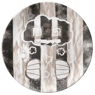 Cloud Prison Porcelain Plate