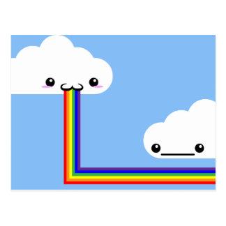 Cloud Puking Rainbow Card Postcard