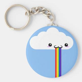 Cloud Puking Rainbow Key Chain