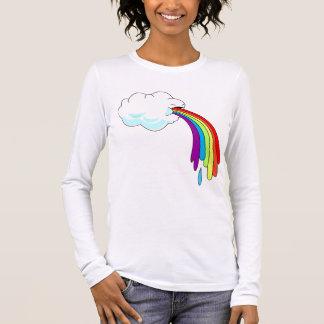 Cloud Puking Rainbow Womens Long Sleeve Long Sleeve T-Shirt