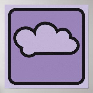 cloud purple 01 poster