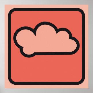 cloud red 01 print