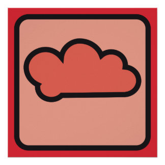 cloud red 02 posters