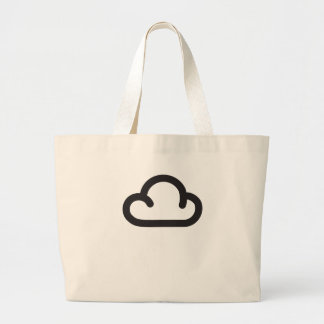 Cloud: Retro weather forecast symbol Canvas Bags