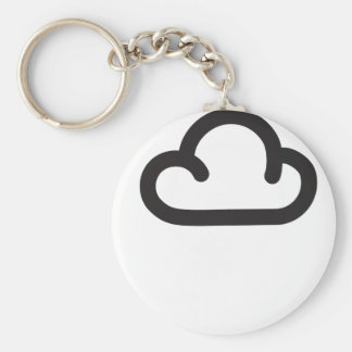 Cloud: Retro weather forecast symbol Key Chains