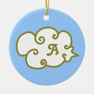 cloud round ceramic decoration