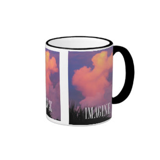 Cloud Shapes Ringer Mug
