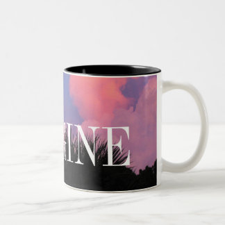 Cloud Shapes Two-Tone Mug