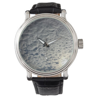Cloud Sky Cloud Black Vintage Leather Watch
