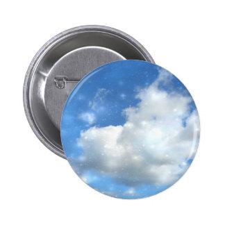 Cloud Sparkles Round Button