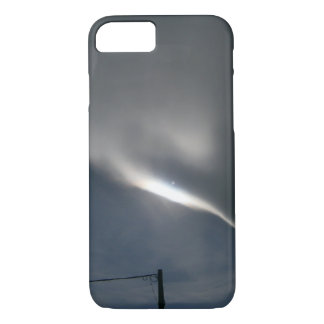 Cloud Streak and Pole in Grey Sky iPhone 7 Case
