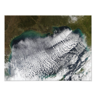 Cloud streets in the Gulf of Mexico Photo